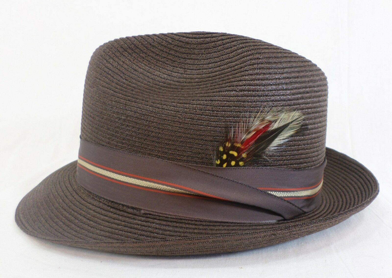 Reed Hill Snap Brim Marroneee Straw Dimensione 6 12 MADE IN USA