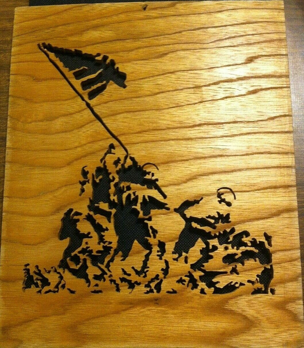 Wood WW II SANDS OF IWO JIMA AMERICAN FLAG RAISING