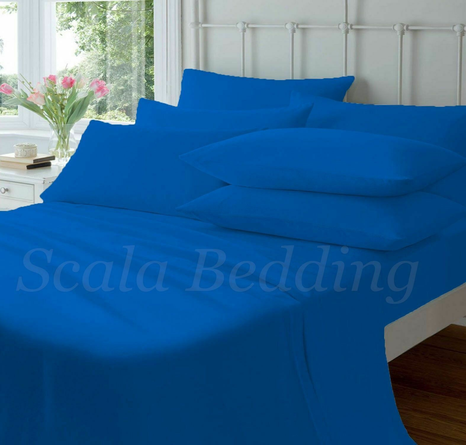 NEW BED SHEET SETS QUEEN SIZE blueE COLOR 800 THREAD COUNT 100% EGYPTIAN COTTON
