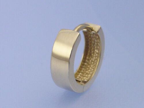 Echt 8 Kt 333er Gold Creole HERREN Durchmesser 12 mm Breite 3,6 mm Männer