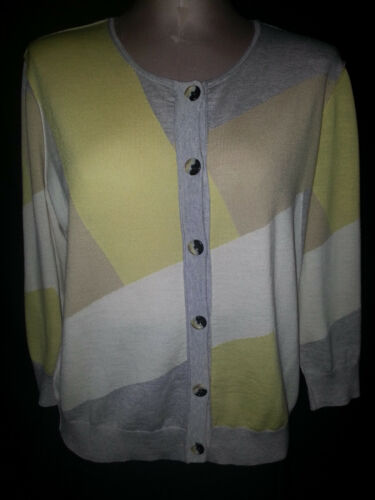 John Button White Front St Light Cardigan Womens Brown Sweater Weight Large Grey gqttpd
