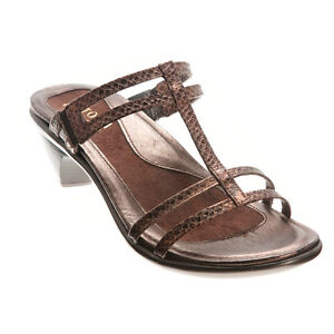 9b80154f581b Image is loading Naot-Loop-Brown-Lizard-Leather-Sandals-35-4