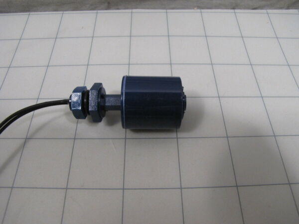 Normally Open Float Switch 1' Dia 1' Tall Float 1.5' Stem 0.37' Dia Mount Stem