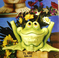 Ceramic Bisque Frog Planter Oggy Froggy Tl Design 662 U-paint Ready To Paint