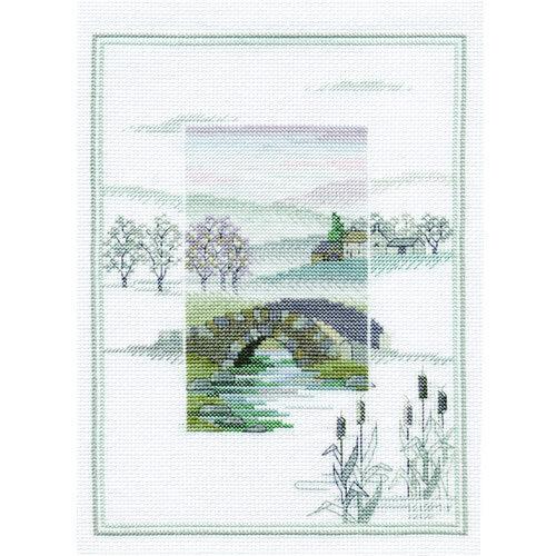 Winter Bridge Derwentwater Designs Misty Mornings Cross Stitch Kit