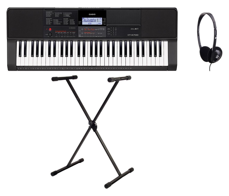 Casio CT-X700 Keyboard Set 61 Tasten Kopfhörer Keyboardständer MIDI Starterset