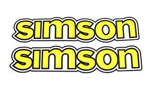 Details Zu 2 Aufkleber Pas Für Simson S50 Tank Schriftzug Gelb Kleber Logo Wasserbild Neu