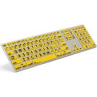 Apple Keyboard - Large Print Yellow Keys With Black Print