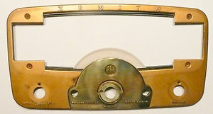 vintage ZENITH RADIO CHASSIS 9H881: ESCUTCHEON ( faceplate), PLASTIC, & screws