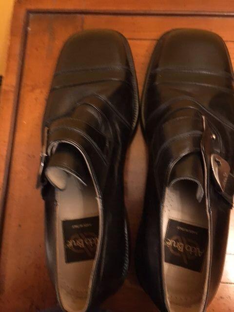 Zapatos De Cuero Aldo Brue Nuevo Negro Hombre