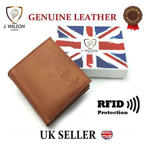Designer-Mens-Leather-Wallet-RFID-SAFE-Contactless-Card-Blocking-ID-Protection