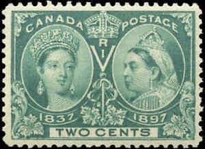 1897-Mint-NH-Canada-F-VF-Scott-52-2c-Diamond-Jubilee-Issue-Stamp