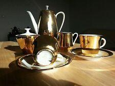 MOKKASERVICE Kaffeeservice Mocca Espresso vollvergoldet WINTERLING 7-teilig