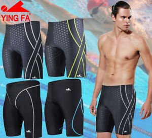6c539f4e3e Image is loading YINGFA-Mens-Competition-Shorts-Jammers-Racing-Training- Swimwear-