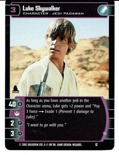 STAR WARS TCG PROMO CARD 12 LUKE SKYWALKER