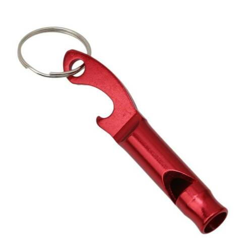 Portable Aluminum Whistle With Keychain Whistle Open Tool New HS