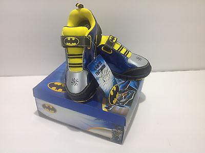 Batman Boys Black Lighted Shoes Sneakers BMS353 7 9 10 11 12 Toddler Kids N I B