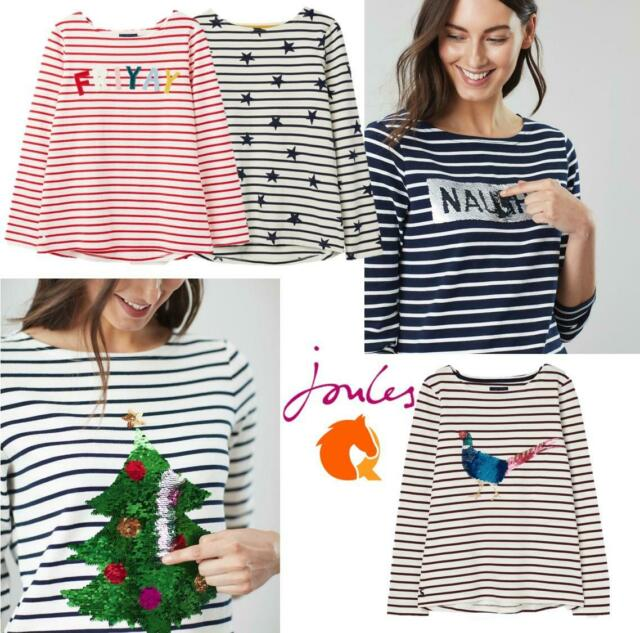Joules AW19 Harbour Print Jersey Top in Star Stripe