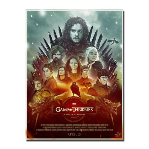 Game of Thrones Poster 2017 TV Series Art Silk Poster 13x18 24x32 inch J749