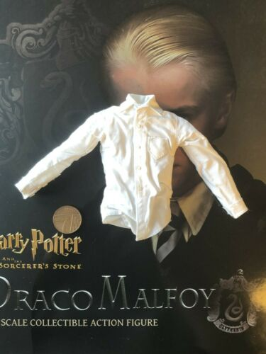 STAR ACE Harry Potter stregoni Pietra Draco Malfoy CAMICIA BIANCA SCALA 1//6th Loose