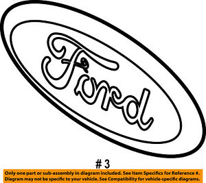 ford oem 10 14 f 150 grille grill emblem badge ornament cl3z8213a ebay 1992 F150 Fuse Panel image is loading ford oem 10 14 f 150 grille grill