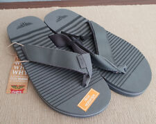 16b67023396f2 BNWT Mens Size 11 Grey Black Stripe Thongs Flip Flop Sandals Beach Casual  Shoes