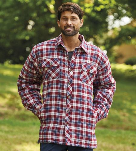 Champion Mens Gents Warm Long Sleeve Pennine Padded Fleece Check Flannel Shirt