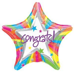 Rainbow-Congrats-Ballon-Plat-48cm-Graduation-Nouvelle-Arrivage-Decoration-de