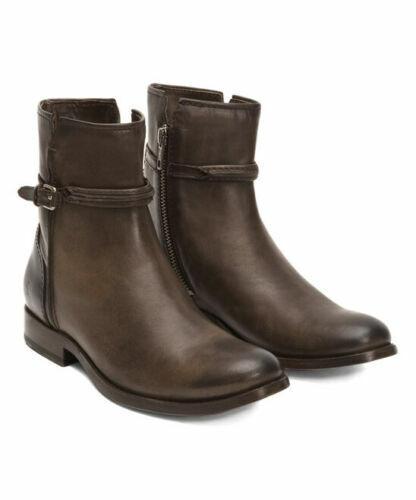 NEW Frye Stiefel Melissa Seam Short Side Zipper Leather Farbe Slate  Größe 7