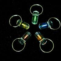 Mini Tritium Illuminating Fluorescence Glow Light Waterproof Titanium Keychain