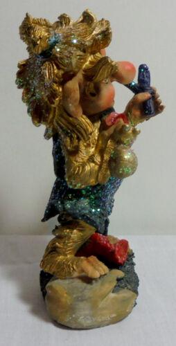 CHRISTMAS VTG 80/'s 5/'/' CERAMIC ELF HAND PAINTED DETAILED SPARKLING FIGURE C
