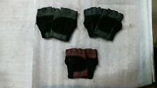 3 Pairs Of Leather Open Finger Work Gloves Rn51583 Finger Less
