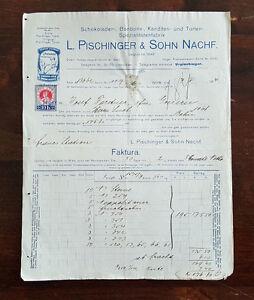 Alte-Rechnung-1914-aus-Wien-Schokoladen-Bonbon-Kanditen-Pischinger-C21