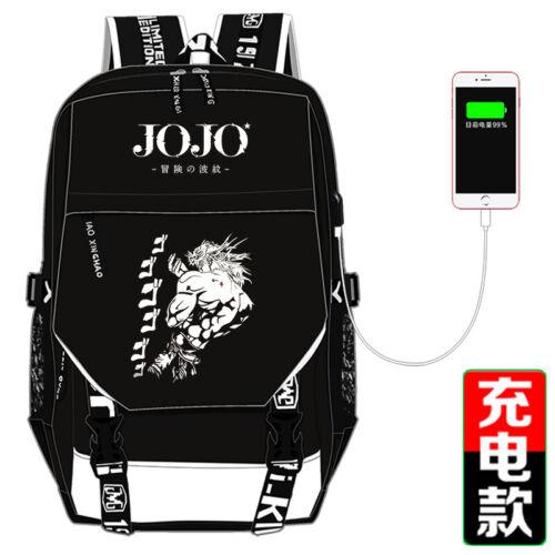 JOJO/'s Bizarre Adventure Travel Backpack Harajuku Schoolbag Bags Holiday Gift#09