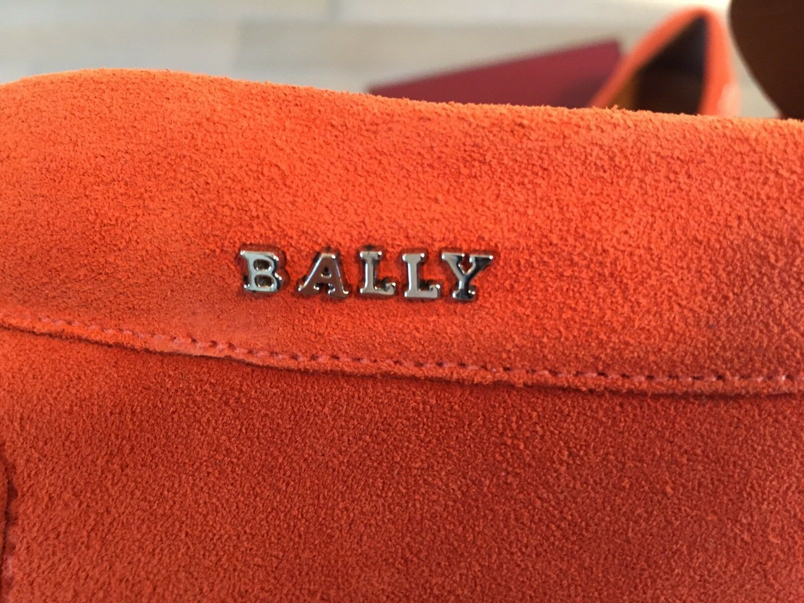 550  Bally Pearce Blaze Orange Suede Suede Suede Driver Size US 11 Made in Italy 101b09