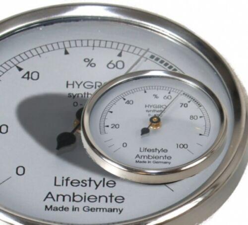 Hygrometer silber-groß Made in Germany Lifestyle-Ambiente Profi Haar