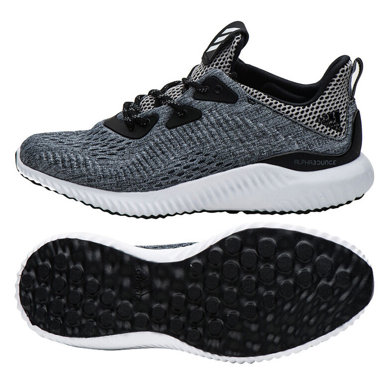 Adidas Alpha Bounce EM Running Shoes BB9043 Athletic Sneakers Runners Boots Gray
