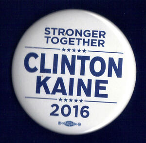 HILLARY CLINTON HISTORIC PINBACK 2016 ELECTION CAMPAIGN