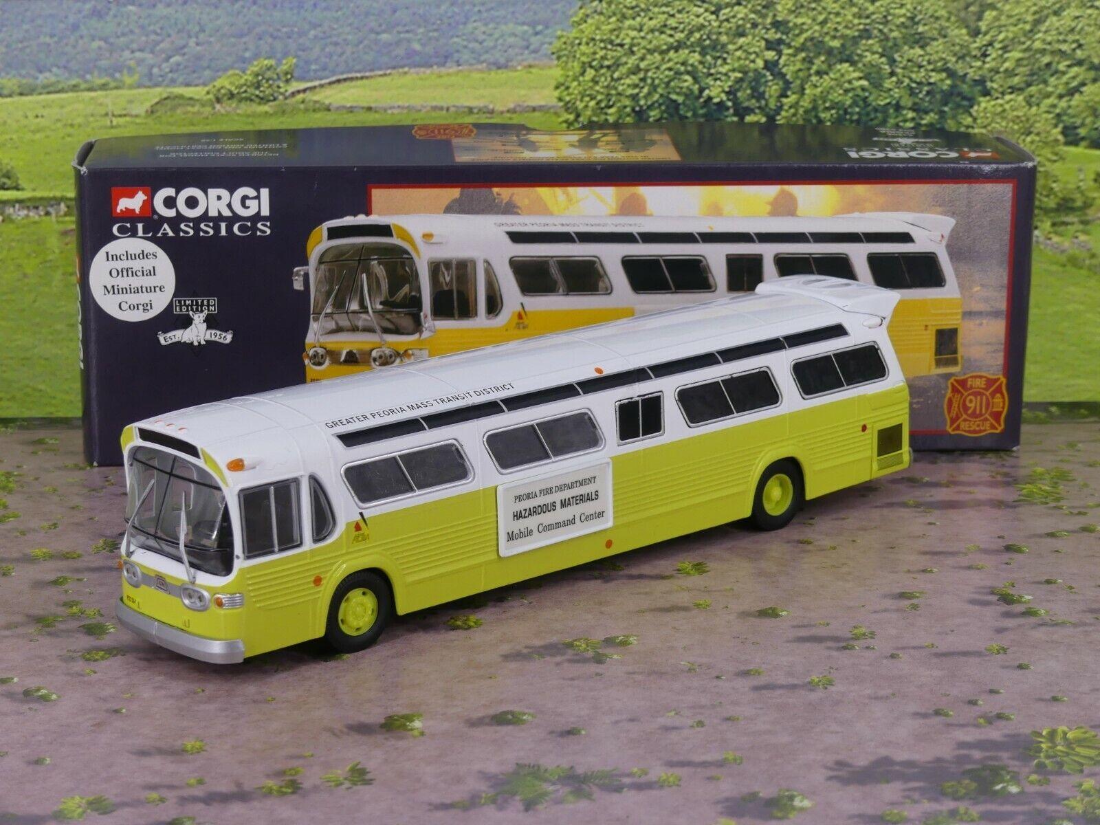 Corgi 54506 GM 5300 Bus Peoria Fire DepartSiet 1 50 Diecast mint boxed