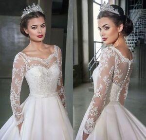 Elegant-Lace-Wedding-Jacket-Long-Sleeve-White-Ivory-Bridal-Bolero-Wraps-Applique