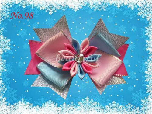 """Snowflake Hair Bow Clip FR0ZEN 110 No. 12 BLESSING Good Girl Boutique 4.5/"""" H"""