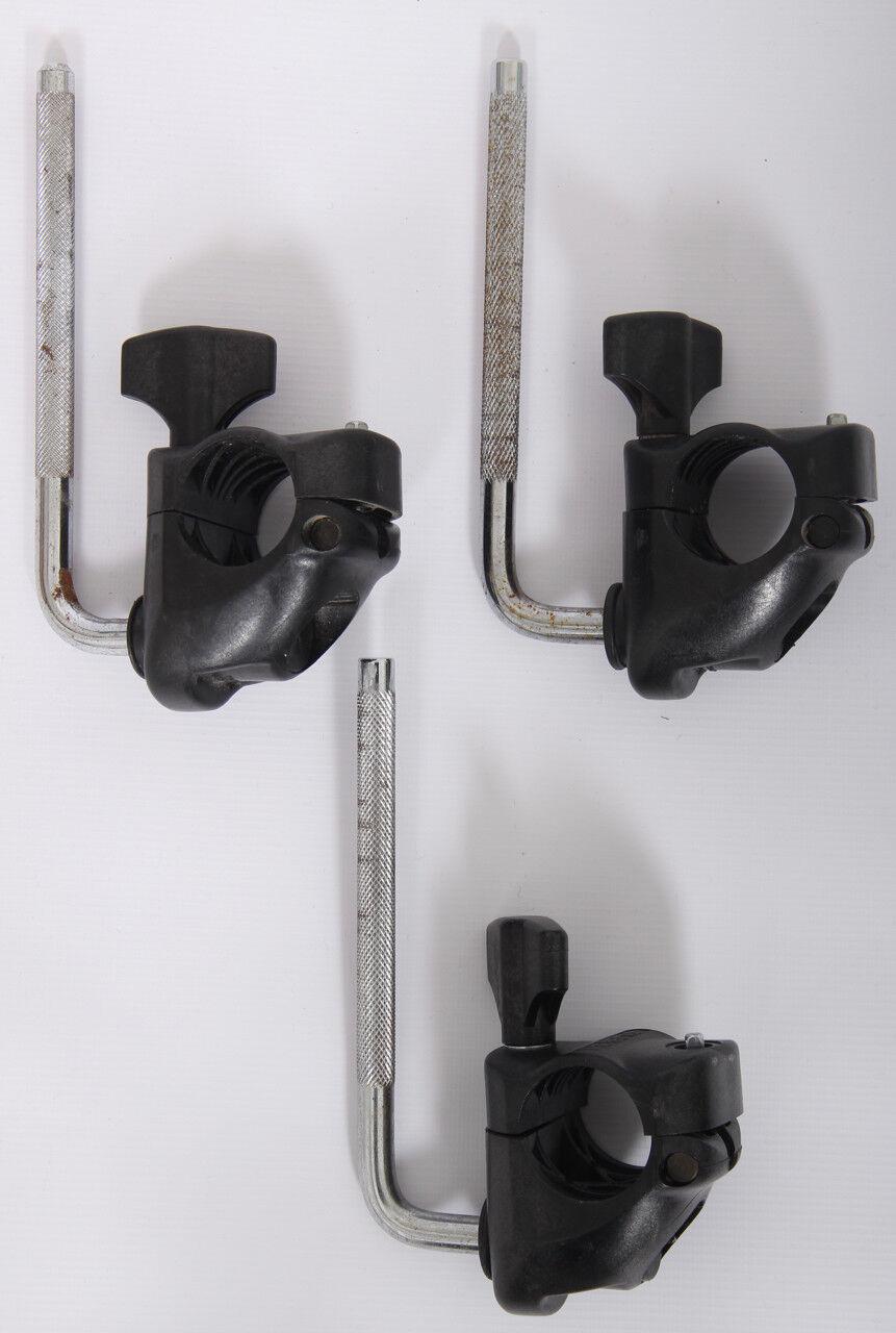 3x Roland Mdh-10u Hatched Klemmen und L-ARMS   Stangen V-Drums Pad Halterungen