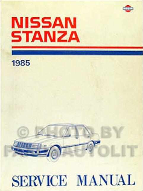 1985 Nissan Stanza Original Shop Manual 85 Oem Repair