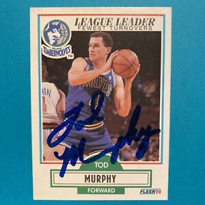 Tod Murphy Auto Autographed Signed 1990-91 Fleer #115 Basketball Card