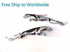 NEW 2 x JAGUAR leaping cat pair metal badge emblem XF XJ XK XJR XJS E S TYPE