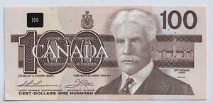 1988-Canada-Bank-Note-100-Thiessen-Crow-BJA9601381-UNC