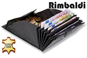 Rimbaldi ® Serveur Bourse Avec Extra Nombreux Compartiments-fin Nappa Cuir En Noir-afficher Le Titre D'origine
