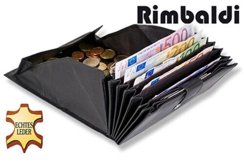feines Nappa Leder in Schwarz Rimbaldi® Kellnerbörse mit Druckknopf Verschluss