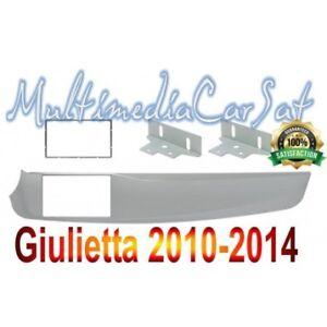 Mascherina-Autoradio-Doppio-2-Din-Alfa-Romeo-Giulietta-039-10-a-039-14-Metallizzato