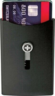 Wagner WA709 Swiss Black Super Slim Wallet Money Clip w// Locking Device
